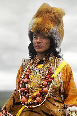 Horse Necklace Photograph - Khampa Warrior - Kham Tibet by Craig Lovell