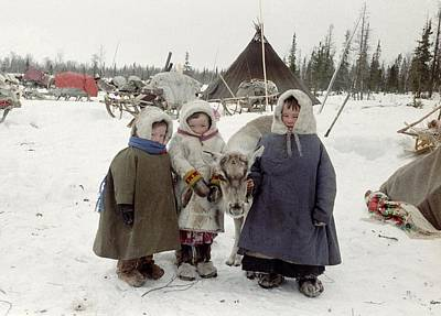 Khanty Children Art Print by Science Photo Library