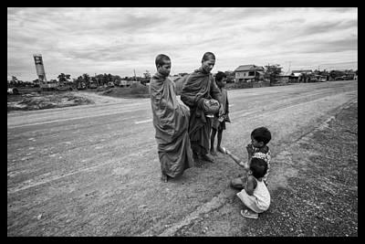 Khmer Rouge Monks Art Print by David Longstreath