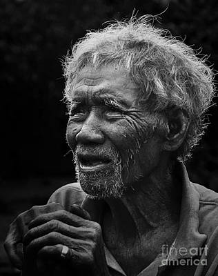 Photograph - Kho Old Man by Tran Minh Quan