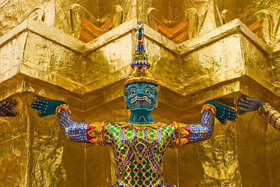 Buddhism Photograph - Khon Guard by Adam Romanowicz