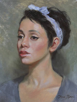 Young Woman Painting - Kia by Anna Rose Bain