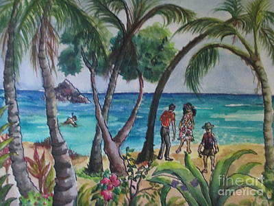 Painting - Kialua Bay by Lynn Maverick Denzer