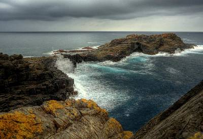 Photograph - Kiama Blowhole Point by Peter Mooyman
