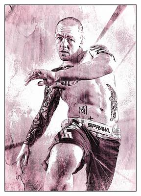 Jiu Jitsu Digital Art - Kick 2 by John Lynch
