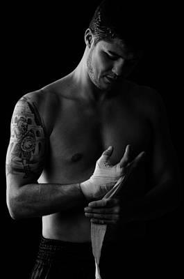 Kick Boxer Preparing Art Print by Onder Konuralp
