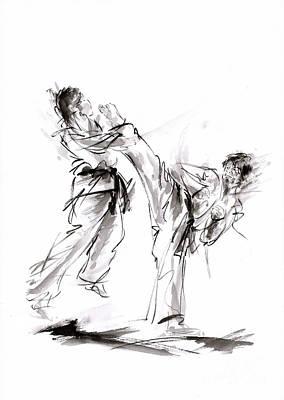Kick. Art Print by Mariusz Szmerdt