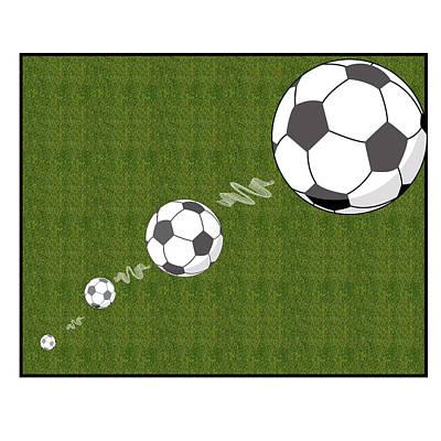 Kick The Ball Art Print by Carrie Murphey