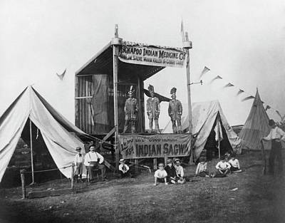 Medicine Man Photograph - Kickapoo Indian Medicine Company by Hagley Museum And Archive