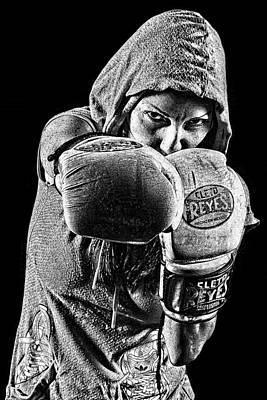 Kickboxer Girl Art Print by Agustin Uzarraga