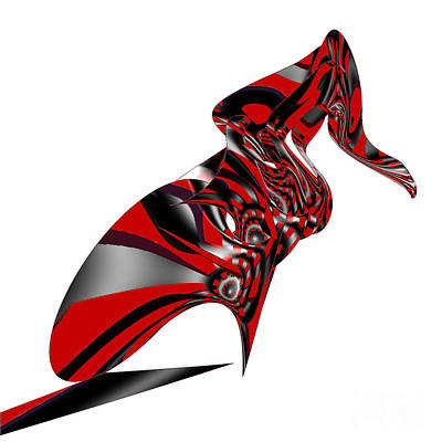Digital Art - Kicky Heels By Jammer by First Star Art
