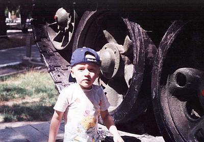 Photograph - Kid And Tank. by Vitaliy Shcherbak