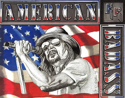 Drawing - Kid Rock American Badass by Cory Still