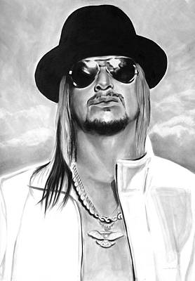 Charcoal Drawing - Kid Rock by Brian Curran