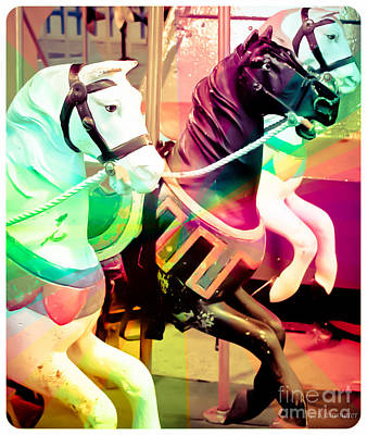 Photograph - Kiddie Carousel by Colleen Kammerer