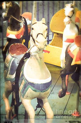 Painted Ponies Photograph - Kiddie Carousel - Painted Ponies by Colleen Kammerer
