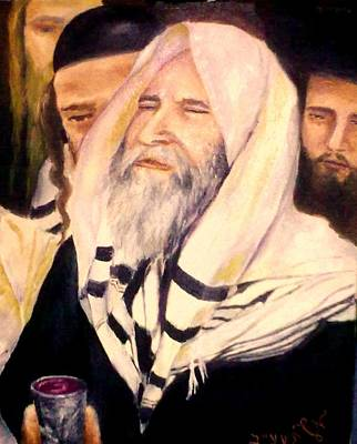 Painting - Kiddush by Miriam Shaw