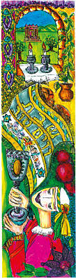 Kiddush Mixed Media - Kiddush Of The Sabbath by Rufina Novakov