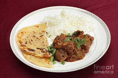 Photograph - Kidney Masala Meal Side View by Paul Cowan