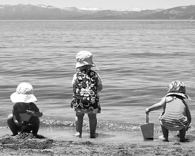 Photograph - Kids At The Beach by Haleh Mahbod