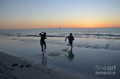 Art Print featuring the photograph Kids At The Beach by Robert Meanor