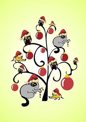 Kids Christmas Art Print by Anastasiya Malakhova
