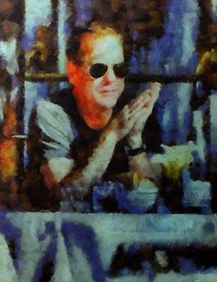 kiefer Sutherland NYC number 7 Art Print by Janice MacLellan