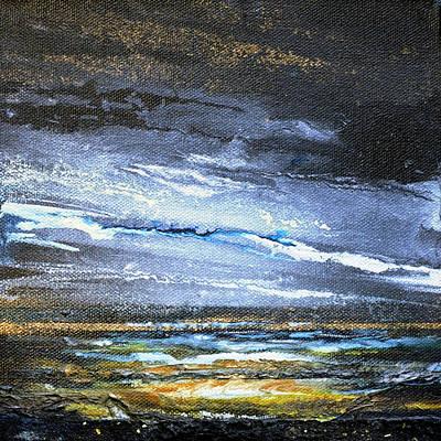 Mixed Media - Kielderwater Storms by Mike   Bell