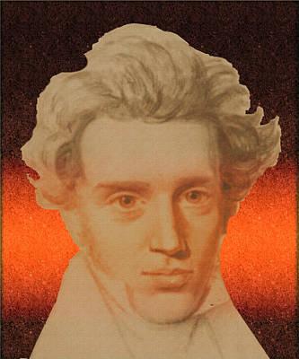 Kierkegaard Art Print by Asok Mukhopadhyay