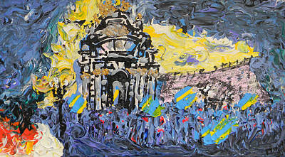 Kiev Burning Art Print by Marwan George Khoury