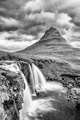 Photograph - Kifrkjufell Waterfall by Greg Wyatt