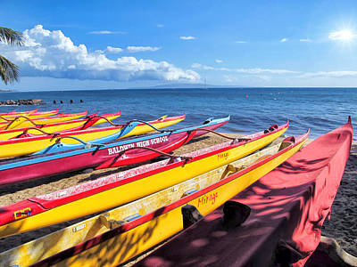 Photograph - Kihei Canoe Club 6 by Dawn Eshelman