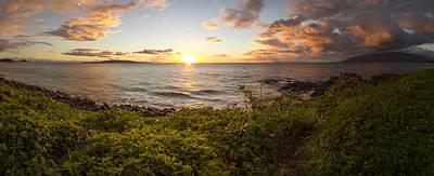 Photograph - Kihei Sunset Panorama by Brad Scott