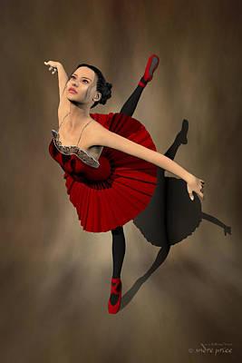 Kiko - Ballerina Portrait Art Print by Alfred Price