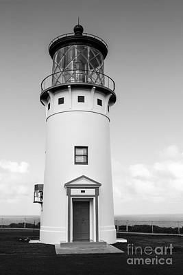 Photograph - Kilauea Lighthouse Bw by Suzanne Luft