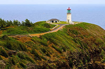 Photograph - Kilauea Lighthouse In Color by Photography  By Sai
