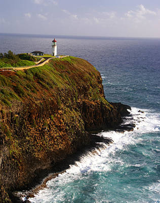 Photograph - Kilauea Lighthouse Kauai by Robert Lozen