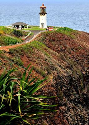 Photograph - Kilauea Lighthouse Two by Caroline Stella