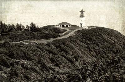 Kilauea Lighthouse Vintage Look And Feel Art Print