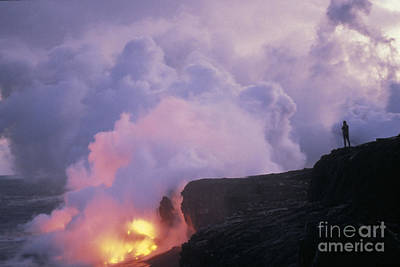 Photograph - Kilauea Volcano, 1991 by Mark Newman