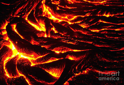 Photograph - Kilauea Volcano by Stephen & Donna O'Meara / Volcano Watch Int'l