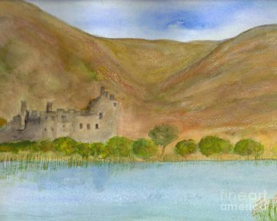 Haunted Castle Painting - Kilchurn Castle by Nan Engen