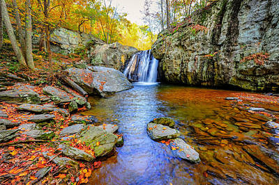 Kilgore Falls In Maryland In Autumn Art Print