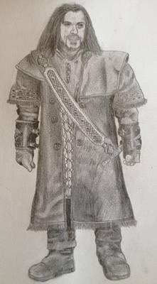 Drawing - Kili From The Hobbit by Noah Burdett