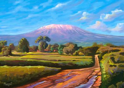 Kilimanjaro Art Print by Anthony Mwangi