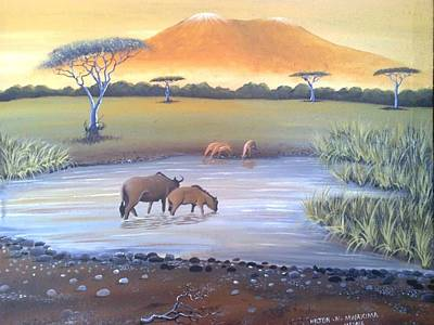Painting - Kilimanjaro by Hilton Mwakima