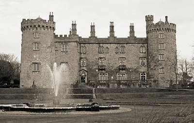 Photograph - Kilkenny Castle- Antique Black And White by Shanna Hyatt