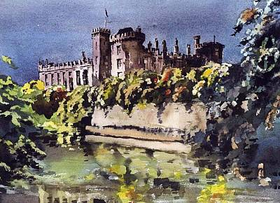 Painting - Kilkenny Castle In The Marble City by Val Byrne