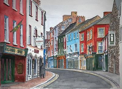 Old Street Painting - Kilkenny Ireland by Anthony Butera