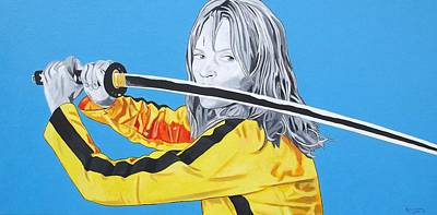 Patrick Painting - Kill Bill The House Of Blue Leaves by Patrick Killian